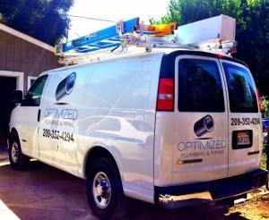 Plumbers in Sonora Ca from Optimized Plumbing & Piping drive this service vehicle for all water heater repairs.